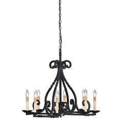 World Imports Rennes 8-Light Rust Chandelier-WI6181842 - The Home Depot