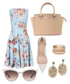 """""""Brunch"""" by kendall-huddleston on Polyvore featuring Miss Selfridge, Gianvito Rossi, Michael Kors, Gucci, Kenneth Jay Lane and Red Camel"""