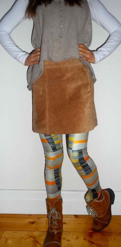 Add a sude skirt for a winter look
