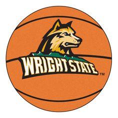 Fanmats Wright State University Nylon Basketball Mat
