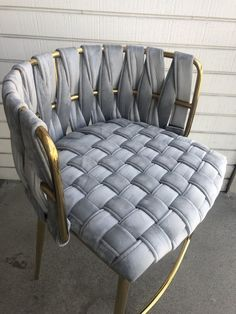 Counter Chair in Gray And Gold – Statements by J Outdoor Furniture Sofa, Grey Furniture, Funky Furniture, Home Furniture, Furniture Design, Grey And Gold Bedroom, Gold Sofa, High Back Chairs, Floor Seating
