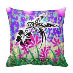 Gorgeous Humming Bird Throw Pillow