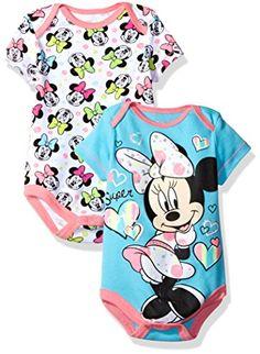 Disney Baby Girls  Minnie Mouse 2 Pack Bodysuit 6f7ce769b