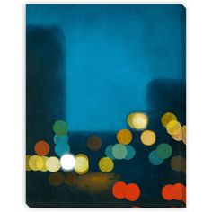 Gallery Direct Flashing Lights II Oversized Gallery Wrapped Canvas