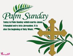 Palm Sunday Greeting SMS