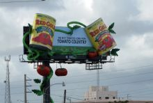 AMERICA'S LARGEST TOMATO CANS ARRIVE IN MIAMI