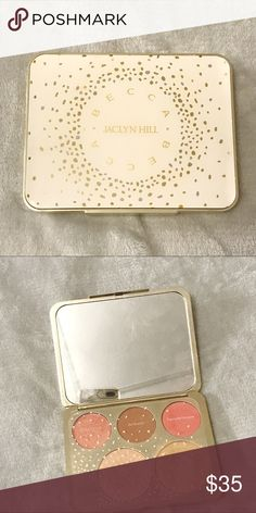 BECCA X Jaclyn Hill Face Palette Very gently used face palette featuring Champagne pop and Prosecco pop highlighters. The blushes work beautifully as eyeshadows. This palette was limited edition and retailed for $56 usd. BECCA Makeup