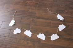 Fluffy Cloud Felt Garland by uniqueextras on Etsy