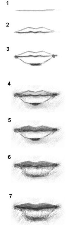 How to draw a lip