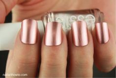 Essie 'Penny Talk' nail polish --- a very flattering, warm rose/gold color
