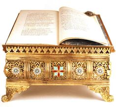 Antique Nineteenth Century French Brass Bible/Book Stand A stunning piece to display a family Bible or treasured book, it dates from 1880-1890