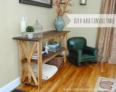 {DIY} Rustic X Base Console Table ...gorgeous!