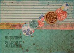 """Summer Sunshine"" card by Design Team member, Celeste Brodnik."