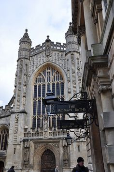 Bath, England - this place has the MOST BEAUTIFUL buildings I have ever seen.  Ask me to see my scrapbooked photos of this trip sometime!