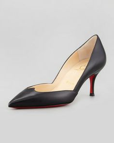 Christian Louboutin Malachic Pointed Leather Pump, Black on shopstyle.com
