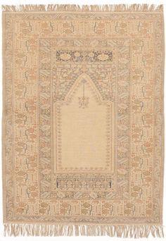 "Antique hand knotted Turkish Kaysari prayer rug. 3'7""x 16' #NasserLuxuryRugs #TraditionalPersianOriental"