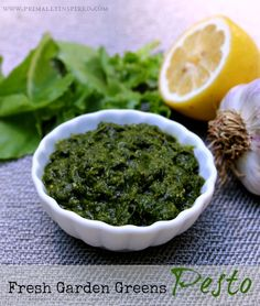 Use up your garden greens with this pesto from Primally Inspired - so good!