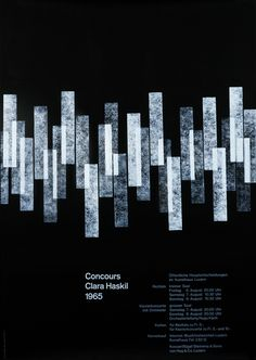 Walter Marti Poster: Concours - Clara Haskil 1965  #Print #Dark  #Poster