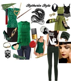 """Slytherin Style"" by sandraf on Polyvore"