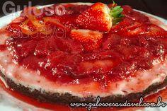 Cheesecake de Tofu com Morangos