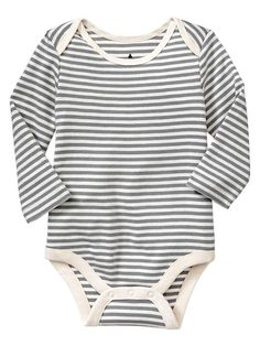Love a long-sleeved bodysuit for little bodies! From BabyGap.