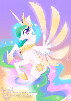 Princess Celestia by mmishee on DeviantArt My Little Pony 1, My Little Pony Friendship, Princesa Celestia, Pretty Phone Wallpaper, Little Poni, Mlp Fan Art, Princess Pictures, Imagenes My Little Pony, Pony Drawing