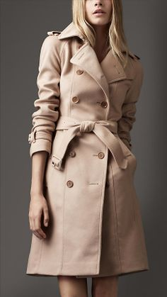 Burberry Brit 'Rushfield' Wool Blend Stand Collar Coat | Wish List ...