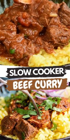 This Slow Cooker Beef Curry is simple to make but full of flavour. A fuss-free curry recipe the whole family will love. This healthy tomato-based curry that's slimming friendly and low in calories.