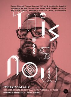 """Poster, TM51, CONTEMPORARY DESIGN """"This is now"""", Exhibition"""