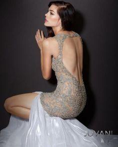 beige pageant dress style 157713 -back