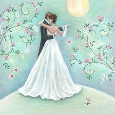Artista Sarah Summers . Wedding Art, Wedding Album, Wedding Images, Wedding Couples, Wedding Bride, Wedding Engagement, Wedding Dresses, Wedding Illustration, Wedding Topper