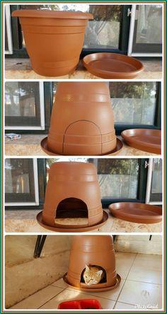 Cat Trees Diy Easy, Diy Cat Tree, Cat Tree Condo, Cat Condo, Outdoor Cat House Diy, Outdoor Cat Tree, Outdoor Cat Shelter Diy, Feral Cat Shelter, Feral Cat House