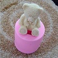 3D-Bär mit bowknot Fondantkuchen Schokoladensilik... – EUR € 7.26