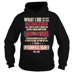 Environmental Engineer Job Title T Shirts, Hoodie