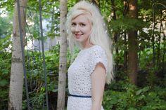 people webs: crochet lace top