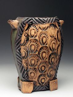 Amy Sanders   Quilted and Textured Cut Vase