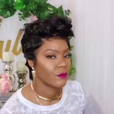 Most Fashionable Pixie Cut Slaying by 💇💇 Wig from 👉👉 🙆🙆 Name: SKU: Cap: Glueless full lace Density: Natural Waves Hair, Pixie Cut Wig, Affordable Wigs, 100 Human Hair Wigs, Thing 1, Short Bob Wigs, Hair Density, Womens Wigs, Wig Hairstyles