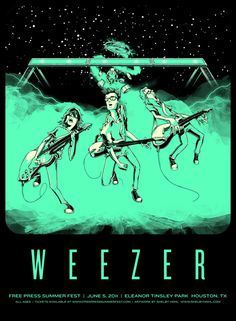 Weezer - gig poster - Shelby Hohl
