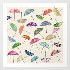 Umbrella & umbrellas Art Print by Sof Andrade. Worldwide shipping available at Society6.com. Just one of millions of high quality products available.