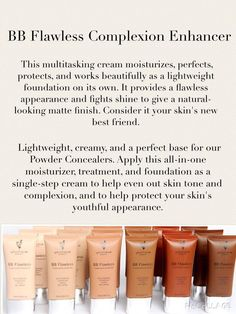 Younique BB FLAWLESS Complexion Enhancer in 6 shades. This lightweight tinted m Lightweight Foundation, Fiber Mascara, 3d Mascara, Younique Presenter, Skin Care Cream, Beauty Bar, Diy Beauty, All Things Beauty, Beauty Stuff