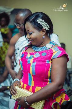 African Wedding Attire, African Attire, African Wear, African Women, African Dress, Kente Dress, Ankara Dress Styles, Kente Styles, African Print Fashion