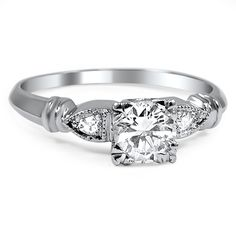 The Sigal Art Deco Engagement Ring - Brilliant Earth