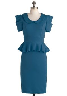 Work With Me Dress in Pool Blue, #ModCloth
