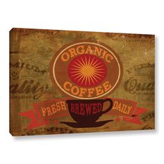 Jason Giacopelli's 'Cuban Coffee V4' Gallery Wrapped Canvas is a wonderful reproduction featuring avibrantly colored vintage advertisement for coffee. A wonderful conversation piece that will complime