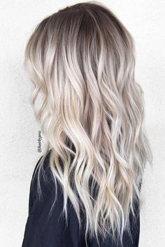 Perfect Ash Blonde Hair Color 2018 2 Fresh Platinum Balayage Hair Colors for Long Straight Hair in 2019 40 Blonde Ombre Hair Color Ideas for Women Trending This Year Platnium Blonde Hair, Platinum Blonde Hair Color, Blonde Hair Shades, Platinum Blonde Balayage, Blonde Color, Icy Blonde, Blonde Hair With Dark Roots, Bayalage, Short Blonde