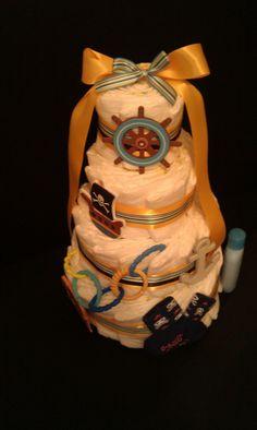 Pirate Diaper Cake