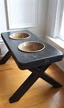 Image result for wooden elevated dog bowl stands
