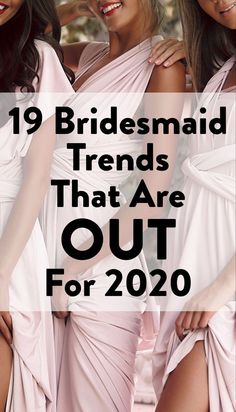 Find out which trends are definitely OUT for 2019 on SheFinds. #wedding #bridesmaids #bride #bridetobe Wedding Gifts For Groomsmen, Groomsman Gifts, Wedding Bridesmaids, Wedding Advice, Wedding Vendors, Wedding Planning, Weddings, Wedding Ring Sets Unique, Shower Tips