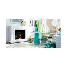Sisustustakka Swarovski, valkoinen biotakka - Takkahenki.fi Home, Decor, Fireplace