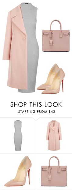 """Untitled #19"" by jessica923 ❤ liked on Polyvore featuring Topshop, Hobbs, Christian Louboutin and Yves Saint Laurent"